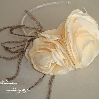 Цветок для повязки своими руками