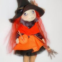 a witch on a broomstick. . .