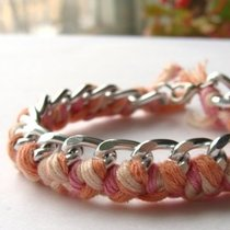"""braid. thread"" green, дшдфс, pink"
