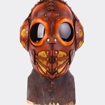 Brown Leather Pilot 4 mask.
