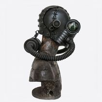 CC Steampunk Art Leather Gas Mask
