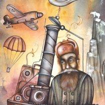 Иванов евгений грустный ангел / the sad angel акварельная бумага/акварель 30см x 20см 2009 г грустный ангел / the