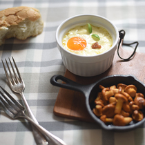 Girolle and eggs en cocotte