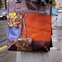 Большая сумка от мастерской EFRESH из толстой натуральной кожи (КРС...